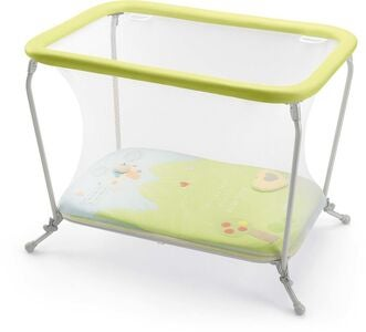 Cam Lusso Parcogiochi Reisebett, White/Green/Light Blue