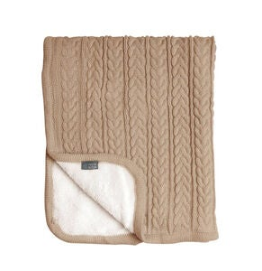 Vinter & Bloom Decke Cuddly, Almond Beige