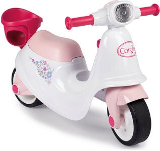 Smoby Corolle Ride-On Scooter, Rosa/Weiß