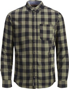 PRODUKT Graham Check Hemd, Dusty Olive