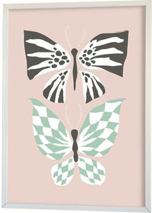 Littlephant Poster Graphic Print Butterfly Love 50x70, Pink