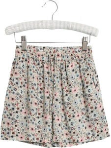 Wheat Merle Shorts, Watercolor Flowers