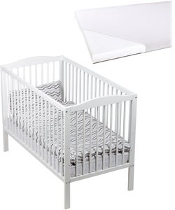 JLY Dream Gitterbett mit BabyMatex Softi Matratze 60x120, Vit