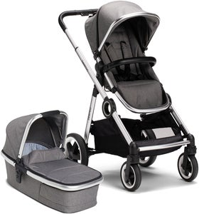 Beemoo Twin Travel+ 2020 Kombikinderwagen, Dark Grey