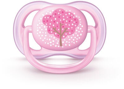 Philips Avent Ultra Air Schnuller 0-6M, Rosa Deco