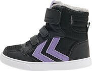 Hummel Stadil Poly Mid Jr Sneakers, Black/Aster Purple