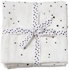 Done By Deer Decke Dreamy Dots 120x120 2er-Pack, White