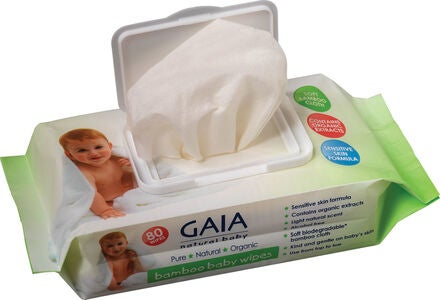 GAIA Baby Wipes Bambus 80er-Pack