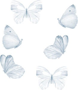 That's Mine Wallsticker Butterfly 6er-Pack, Blue