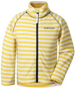 Didriksons Monte Fleecejacke, Yellow Simple Stripe