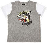 Rip Curl Arty SS Tee Groms T-Shirt, Cement Marle
