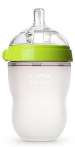 Comotomo Natural Feel Babyflasche 250 ml, Grün