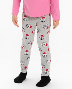 Luca & Lola Leggings Love Xmas, Grey Melange