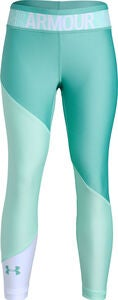 Under Armour HG Color Block Ankle Crop Leggings, Neo Turquoise