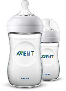 Philips Avent Natural Babyflasche 260ml inkl. Slow Flow Trinksauger 2er-Pack