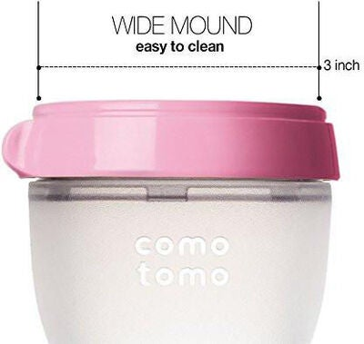 Comotomo Natural Feel Babyflasche 150 ml, Rosa