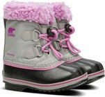 Sorel Youth Pac Nylon Winterstiefel, Chrome Grey/Orchid