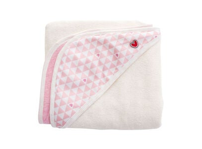 Baby To Love Smart Babybadetuch Bamboo, Pink Heart