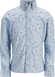 PRODUKT Space Aop Hemd, Chambray Blue