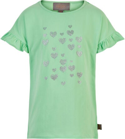 Creamie Silver Heart T-Shirt, Mint