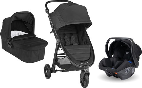 Baby Jogger City Mini GT 2 Buggy inkl. Babyschale, Babywanne & Adapter, Jet Black