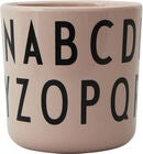 Design Letters Eat & Learn ABC Tasse Melamin, Nude