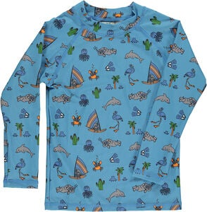 Småfolk UV50 Shirt, Sky Blue