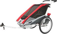 Thule Chariot Cougar 1 Red inkl. Fahrradkit