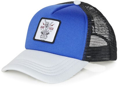 Jack & Jones Skull Trucker Kappe, Victoria Blue