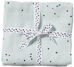 Done By Deer Musselindecke Dreamy Dots 2er-Pack, Blue