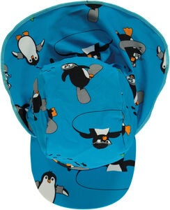 Småfolk Pinguin UV50+ Sonnencap, Ocean Blue