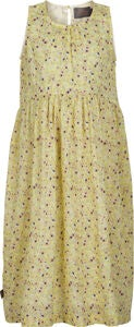 Creamie Yellow Flower Kleid, Popcorn