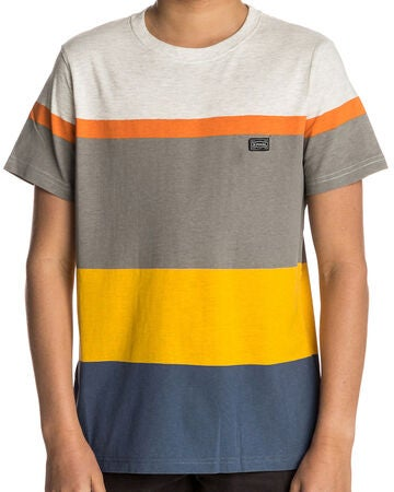 Rip Curl Edge Striped SS Tee T-Shirt, White Marle