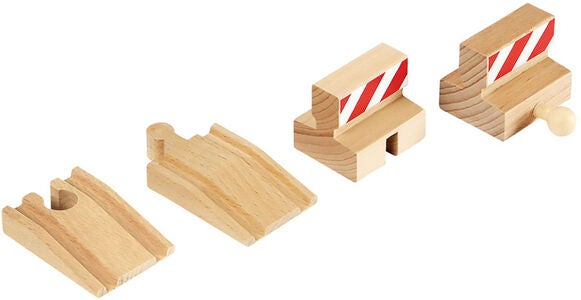 BRIO World 33385 Rampen & Prell-Bock Pack