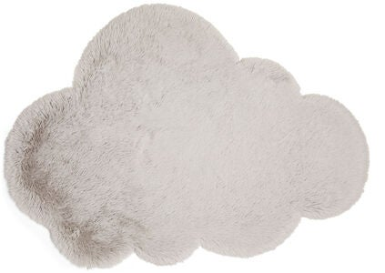 Alice & Fox Teppich Fake Fur Cloud, Silver