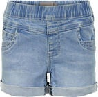 Creamie Denim Shorts, Blue Denim