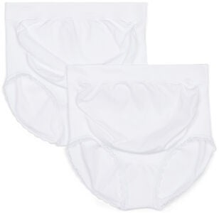 Milki Hipster Seamless 2er Packs, White