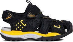 Geox Borealis Sandale, Black/Yellow