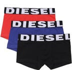 Diesel UMBX Shawn Boxershorts 3er-Pack, Black/Bluette/Red