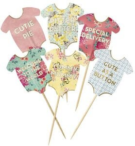 Talking Tables Cupcake Toppers Baby 24-teilig