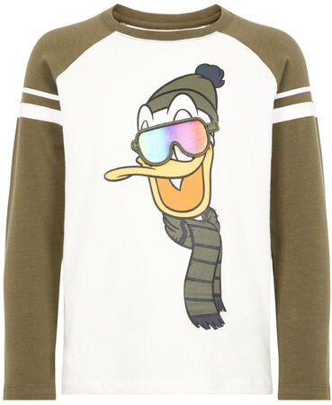 Name it Teddy Pullover Donald Duck, Olive Night