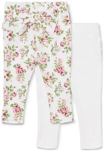 Petite Chérie Atelier Celestina Leggings 2er-Pack Bow, White/Flowers