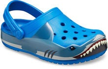 Crocs Shark Band Fun Lab Clog, Bright Cobalt