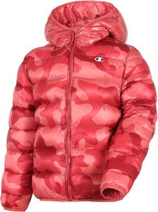 Champion Kids Hooded Jacke, Mineral Red