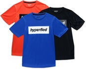 Hyperfied Edge T-Shirt 3er Pack, Black/Blue/Koi