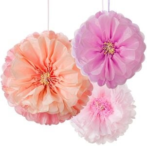 Talking Tables Pom Poms Flower Blush Mix 3er-Pack