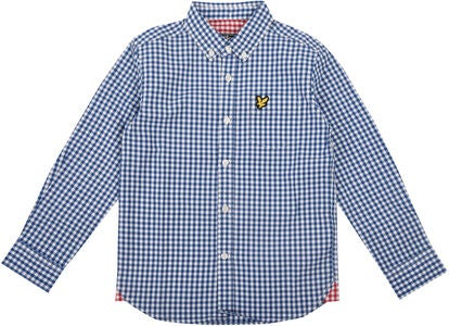 Lyle & Scott Junior Gingham Check Hemd, True Blue