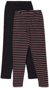 Luca & Lola Agata Leggings 2er-Pack, Black/Stripes
