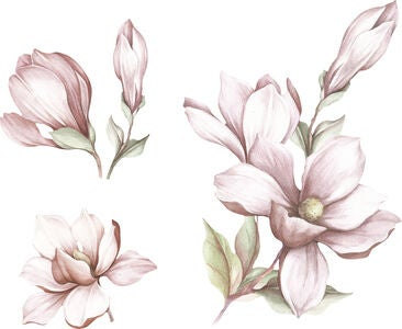 That's Mine Wallsticker Magnolia Flower, Rose
