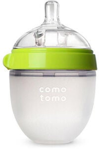 Comotomo Natural Feel Babyflasche 150 ml, Grün